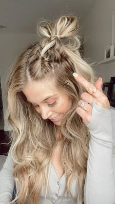 Easy Hairstyles For Long Hair, Pretty Hairstyles, Braided Hairstyles, Hairstyles For Swimming, Long Length Hairstyles, Cute Simple Hairstyles, Protective Hairstyles, Hairdos, Updos