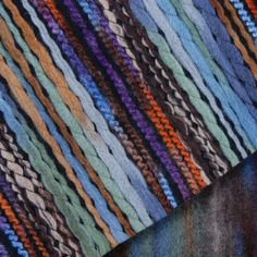 """Multicolor Striped Knits - Fashion Fabrics 