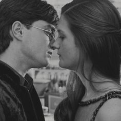 harry and ginny black and white