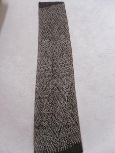 Mabal Tabih (Ikat Weaving) - Tabih Amlatoh designed and woven by Fu Yabing, 2006 Living Treasures, Tribal Community, Ikat, Woven Fabric, Weaving, Mindanao, Philippines, Fabrics, Design
