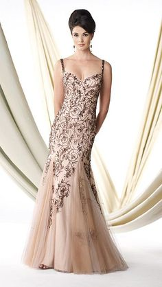 Ivonne D 114D33 Beaded Illusion Mother of the Bride Dress