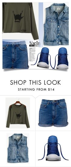 """""""Shein -top-"""" by dolly-valkyrie ❤ liked on Polyvore featuring Marc by Marc Jacobs, J.Crew, Converse, Sheinside and shein"""