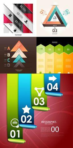 Creative digital label trend vector graphics