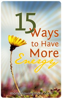 15 Ways to Have More Energy | I sat down and made a list of 15 things I've personally found help me have more energy and zest for life. I can't guarantee that by implementing this list you're going to all of a sudden have this amazing transformation and feel like you could take on the world, but maybe my list will help give you some ideas and inspiration if you're feeling lackluster and un-enthused about life right now.