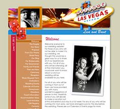 Vegas web site -- let's change this to a New Orleans wedding web site!