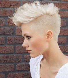 Bald faded pixie for those looking for a bold statement :)