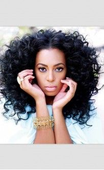Solange Knowles New 2013 Voluminous Curly Hair #EvaWigs