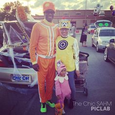The Chic Stay At Home Mom: Trunk or Treat 2013 -  We had so much fun dressing up as @Yo Gabba Gabba!!