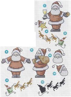 MÁS PUNTO DE CRUZ: Papá Noel
