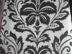 Luxury Designer  Wallpaper (Black/White Damask)