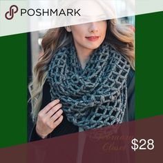 🆕Stylish Chunky Knit Infinity Scarf Embrace the cold weather with this stylish knit infinity scarf. 32X16. Gray. 100% Acrylic. New direct from Vendor. February Closet Accessories Scarves & Wraps