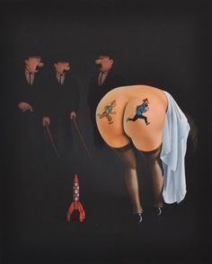 Tintin et les Femmes Fatales by Ole Ahlberg Blake Et Mortimer, Gravure Illustration, Vanitas, Illustrations, Erotic Art, Cartoon Characters, Photo Art, Cool Art, Art Pieces