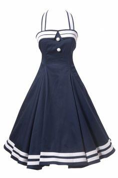 TopVintage - 50's Sindy Doll Sailor navy swing dress