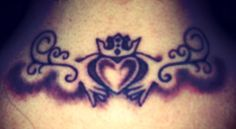 My Claddagh tattoo. Meaning love, loyalty, friendship. ❤