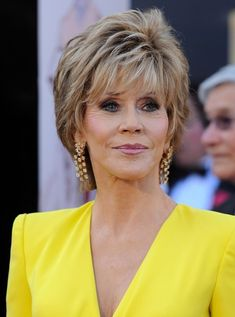 More Pics of Jane Fonda Layered Razor Cut (2 of 11) - Short Hairstyles Lookbook - StyleBistro