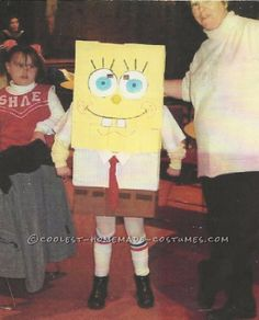 Coolest Homemade Spongebob Costume for No Money… Enter Coolest Halloween Costume Contest at http://ideas.coolest-homemade-costumes.com/submit/