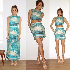 Siste #syom- prosjekt ferdig! 70talls kjole fra #fretex, gjort til topp og skjørt. Vårklær tross #shoppestopp. #fretexfashion