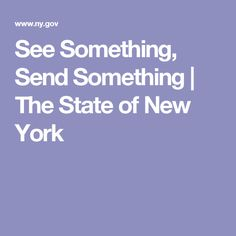 See Something, Send Something | The State of New York