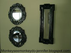 Monkey See, Monkey Do!: Thrifted & Spray Painted Mirrors