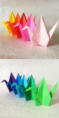 "SPECIAL PRICE // 1000 6"" Multi Color Origami Cranes (Senbazuru)"