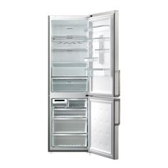 Samsung RL-60GQERS Refrigerator open Samsung, French Door Refrigerator, French Doors, Kitchen Appliances, Home, Products, Kitchens, Board, Diy Kitchen Appliances