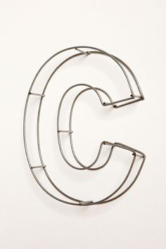 Wire Frame 10 inch letter C (Urban Outfitters) Wire Letters, Framed Letters, Letter Wall, Letters And Numbers, Alphabet Letters, Abc Letra, Scrapbook Letters, Diy Pallet Wall, Hanging Jewelry