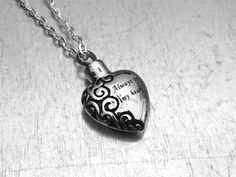 Cremation Necklace Heart Urn Urn Locket Ashes by urbanindustries