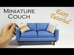 DIY Miniature Couch - YouTube