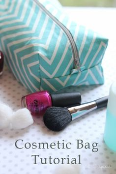 Cosmetic Bag Tutorial - super easy!!  #spon