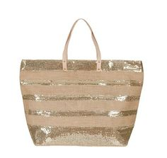 Jute striped sequin bag