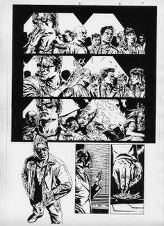 Splash Page Comic Art :: For Sale Artwork :: Batman Deathblow by artist Lee Bermejo