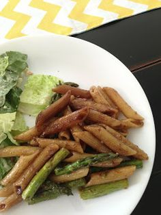 Readable Eatables: {Penne with Roasted Asparagus and Balsamic Butter}