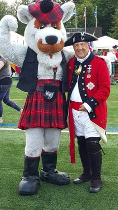 Carl as LT Col. Hierlihy and BC Highland Games Mascot 2015