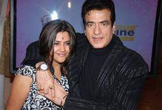 Ekta Kapoor posed with her father Jeetendra