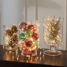 17 Sparkling Indoor Christmas Lighting Ideas                                                                                                                                                                                 More