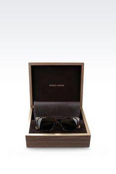 Giorgio Armani Men Sunglasses - SUNGLASSES IN ACETATE AND WOOD Giorgio Armani Official Online Store