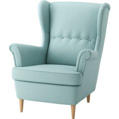 IKEA - STRANDMON, Wing chair, Skiftebo light turquoise, You can really loosen up and relax in comfort because the high back on this chair provides extra support for your neck. Combines with STRANDMON footstool for great seating comfort. Chaise Ikea, Ikea Chair, Swivel Chair, Children's Armchair, Recliner Chairs, Modern Armchair, Chair Cushions, Chairs