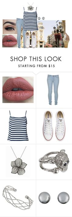 """Sin título #12"" by barr4cuda ❤ liked on Polyvore featuring Marc by Marc Jacobs, Converse, Effy Jewelry, Wallis and Kenneth Jay Lane"