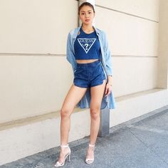 """NadineLustre For Its ShowTime ©myrrhlaoto """" Nadine Lustre Ootd, Nadine Lustre Fashion, Nadine Lustre Outfits, Filipina Actress, Flattering Outfits, Beautiful Muslim Women, Jadine, Asia Girl, Korean Outfits"""