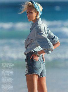 Vogue Paris April 2012   Photography: Hans Feurer  Stylist: Geraldine Saglio  Model: Anja Rubik