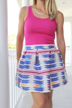 how to sew a pleated mini skirt || pleated mini skirt DIY