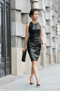 Structured Glamour :: Sequin dress