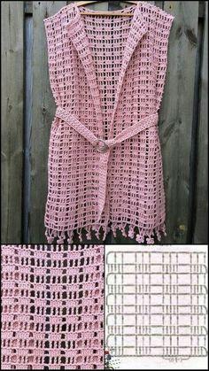 Filet Crochet, T-shirt Au Crochet, Crochet Bolero, Pull Crochet, Crochet Poncho Patterns, Crochet Square Patterns, Crochet Coat, Crochet Cardigan Pattern, Crochet Shirt