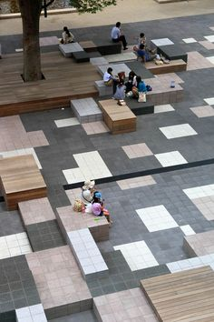 Works / Teikyo Heisei University Nakano: Idea of ​​flooring design . - Works / Teikyo Heisei University Nakano: Idea of ​​flooring design … - Landscape And Urbanism, Urban Landscape, Landscape Plaza, Landscape Designs, Urban Furniture, Street Furniture, Plaza Design, Public Space Design, Public Spaces