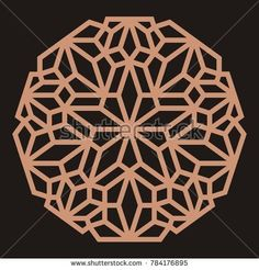Laser cutting mandala. Oriental silhouette ornament. Circular ornament. Round lattice. Vector template for paper cutting, metal, plywood and woodcut.