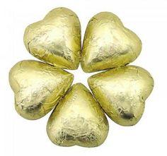 Milk Chocolate Hearts - Gold
