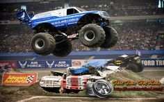Monster truck shows are an exciting and awesome form of entertainment. These mighty beasts showcase some of the best in auto part mods and tuning. Read on to learn more about monster truck vehicles. Monster Truck Racing, Monster Trucks, Monster Jam, Interview Guide, Interview Skills, Hot Rod Trucks, Pickup Trucks, Demolition Derby, Texas Vacations