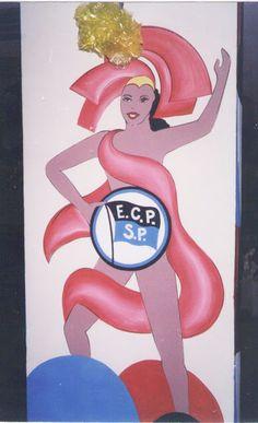 Carnaval Clube Pinheiros - pintura na coluna