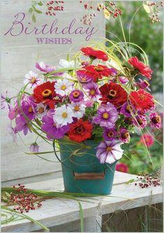Birthday Wishes Flowers, Happy Birthday Flower, Birthday Wishes For Myself, Happy Birthday Pictures, Birthday Blessings, Happy Birthday Messages, Happy Birthday Quotes, Happy Birthday Greetings, Late Birthday