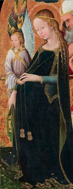 French School 15th Century, ca. 1425-50, The expectant Madonna with Saint Joseph, tempera.
